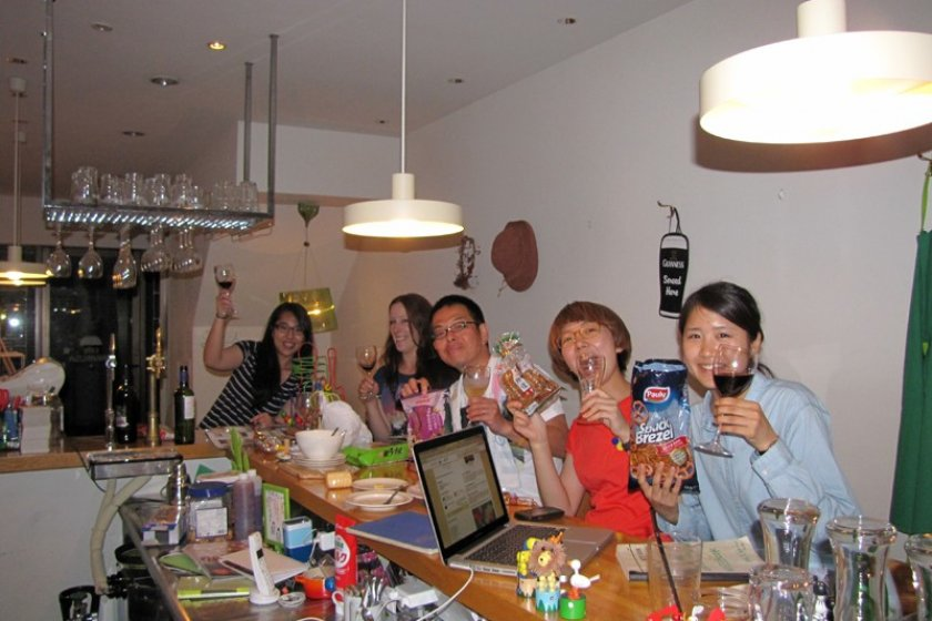 Couchsurfing friends in Nara