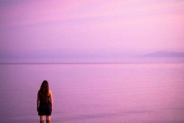 Watching the sun rise over Lake Biwa