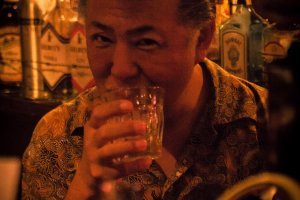 The coolest Rockabilly barkeeper of Hikone