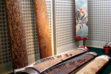 The collection of Japanese instruments