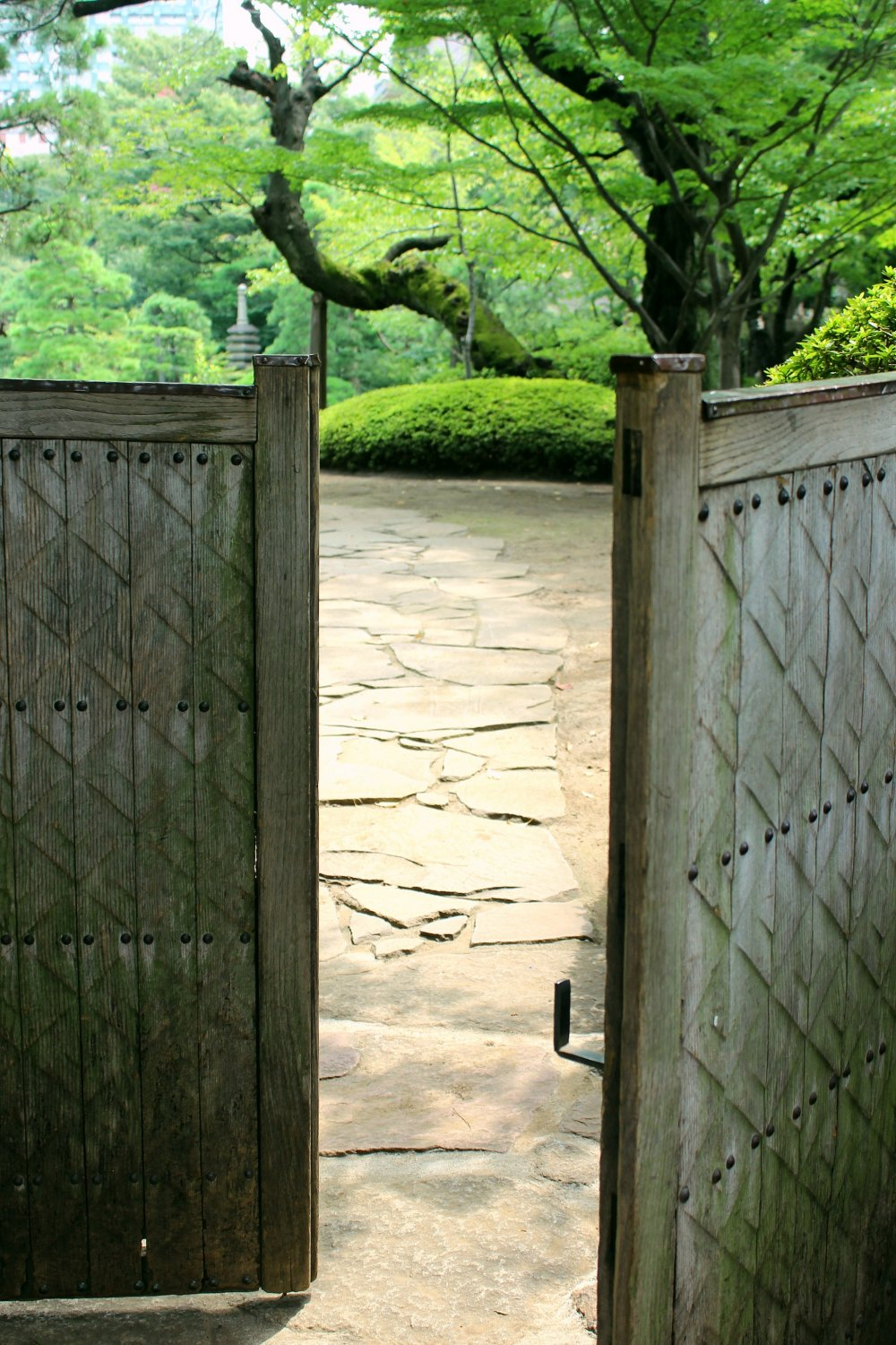 Charming little gate at the entrance