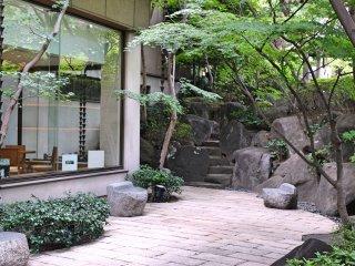 Cafe inside the garden