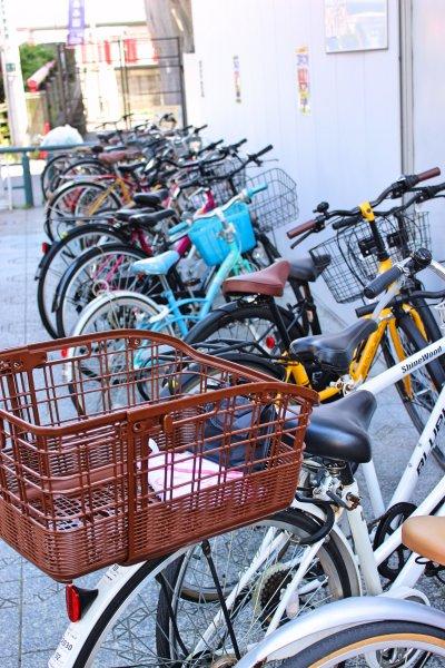 Bicycle parking in Asakusa