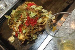 Yakisoba and Kimchi marinated por