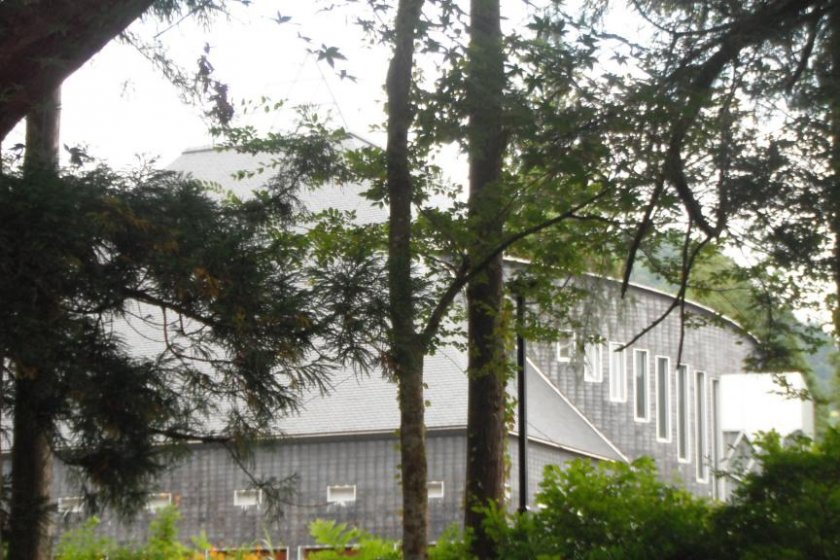 Tateyama Museum, viewed from Ashikuraji Oyama Jinja