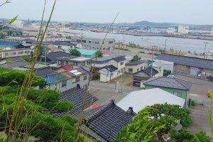 Vue sur le port de Sakata