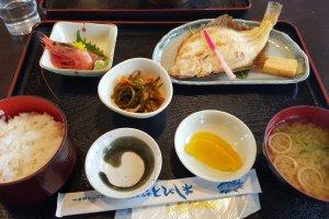 Menu at Tobishima