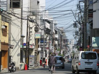 Typical view of a street in Japan