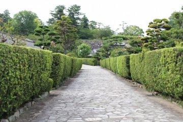 松阪城遺跡的石板地