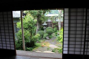 竹川竹齋的故居的內院