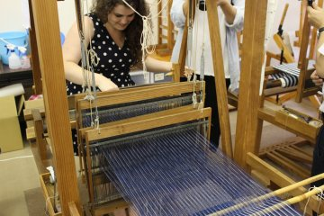 體驗手織松阪木棉