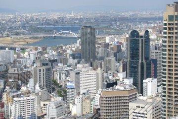 Pemandangan Osaka dari Atas