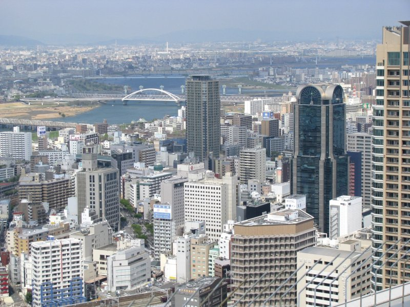 Осака с высоты птичьего полёта