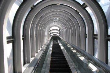 Один из самых длинных эскалаторов в мире