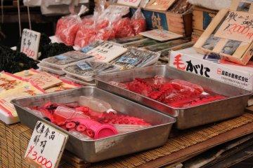 Tentáculos de pulpo, uno encuentra una variedad impresionante de mariscos aquí.