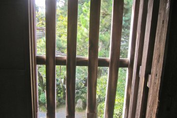 The interior of that ishiotoshi. I wouldn't want to be the soldier charged with defending the castle from here