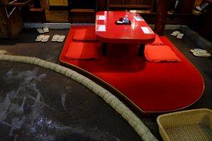Ring sumo dan tempat duduk tradisional