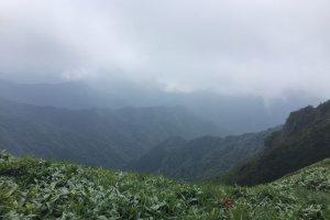 Part of the Ishizuchi mountain range, as seen from Kamegamori