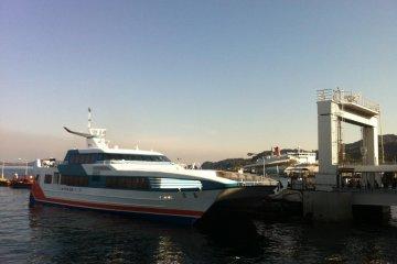 The Super Jet ferry to Hiroshima