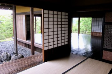 Ширмы и открытые пространства характерны для японского дома
