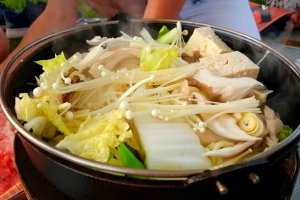 Légumes et tofu façon sukiyaki