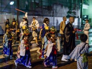 The evening's parade
