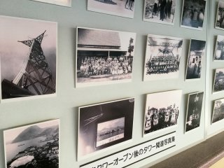 Foto-foto tua konstruksi and pembukaan Beppu Tower