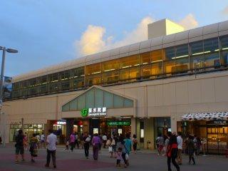 Sakuragicho station after sunset