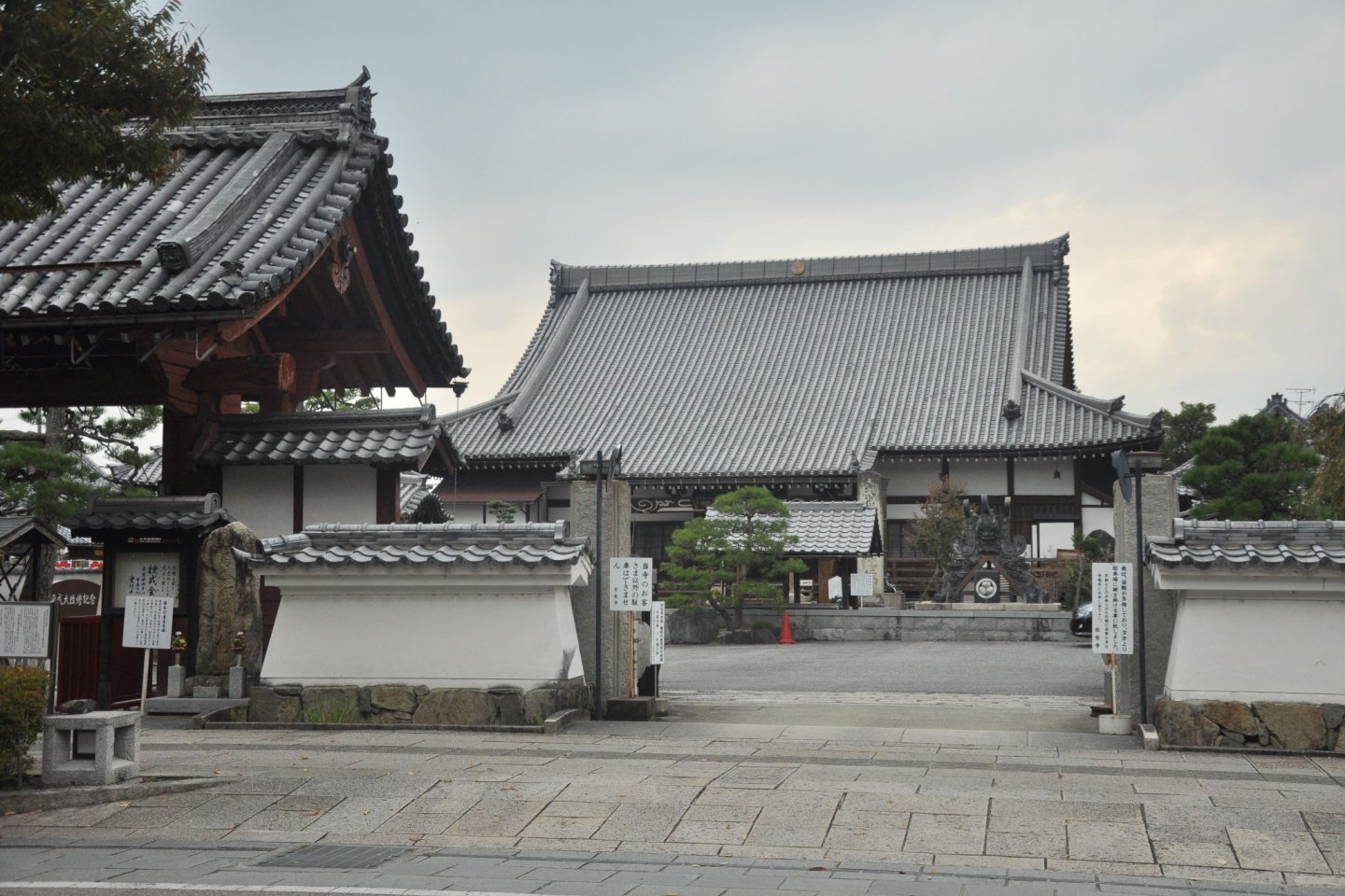 Temples dotted in the main tourist district