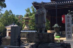 A statue of Kobo Daishi at Zentsuji