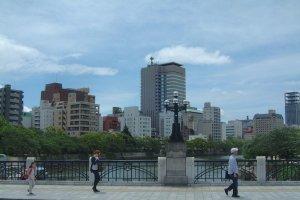 The modern city of Hiroshima
