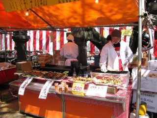 Cooking stalls in Ueno
