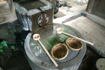 硬幣形狀的許願池