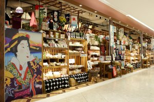A traditional goods store at Namba City.