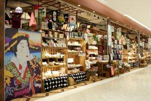 Namba城的傳統商品店。