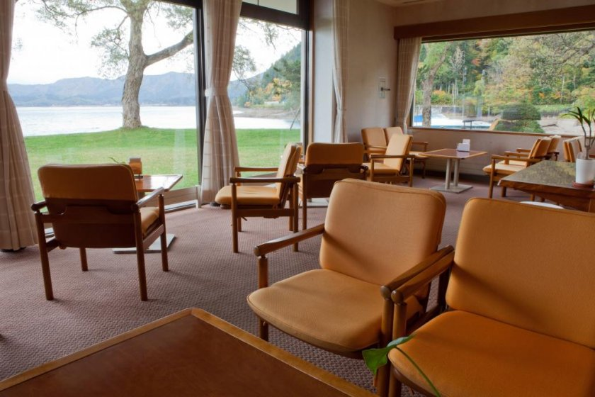 Stunning waterfront views from the lounge