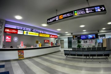 Rental car services in the airport