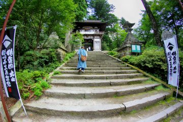 Leading the way to Daisen-ji temple