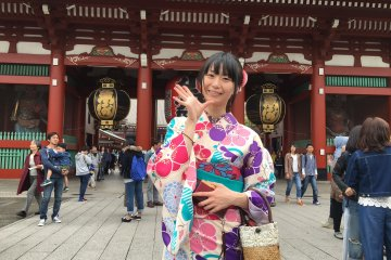 Renting a Kimono in Asakusa