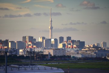 Tokyo Sky Tree viewed from the observation deck