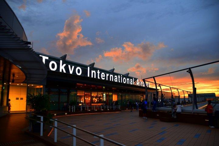 Senja di Bandar Udara Haneda