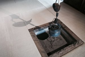 Old tea pot used during tea ceremonies