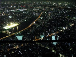Anda bisa melihat ukuran kota dari ketinggian!