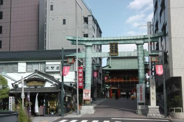 Torii entrance from the street