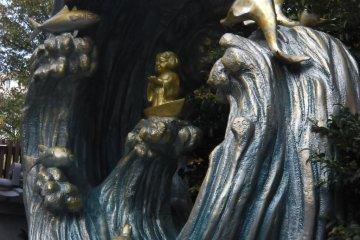 Statue of Ebisu, the God of Fishermen and Children's Health