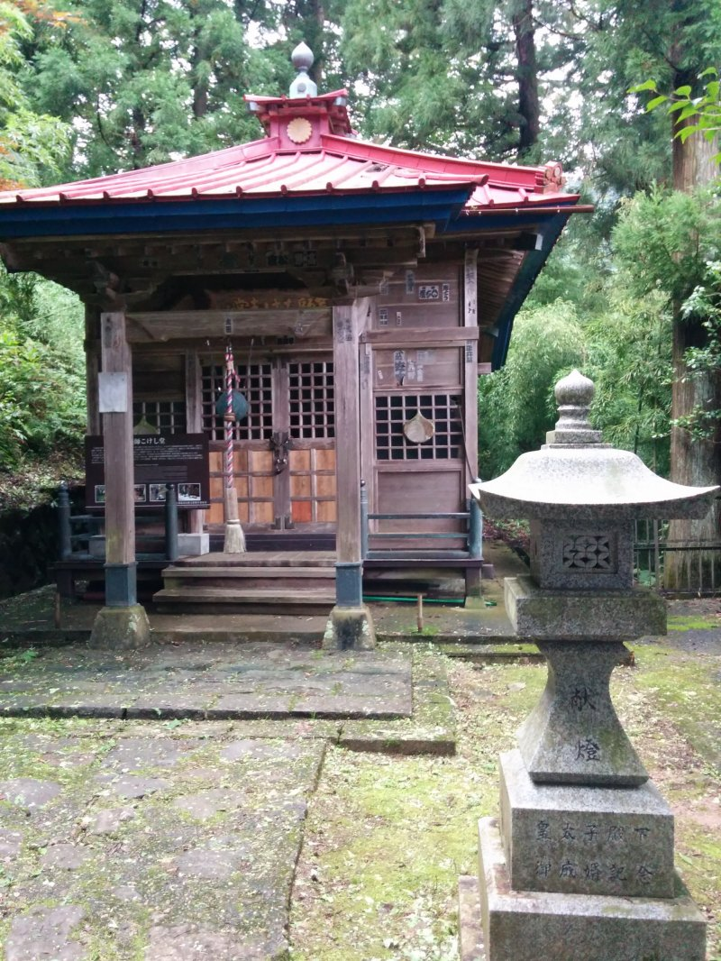 The temple is rather simple in appearance