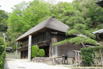 Old houses are preserved in a great state