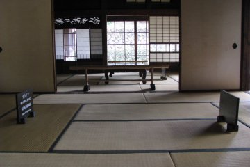 The interior of a traditional Japanese house