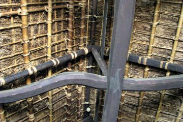 Ceilings were covered with bamboo and straw in the past
