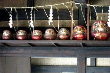 Kamidana (home Shinto altar) with Darumas